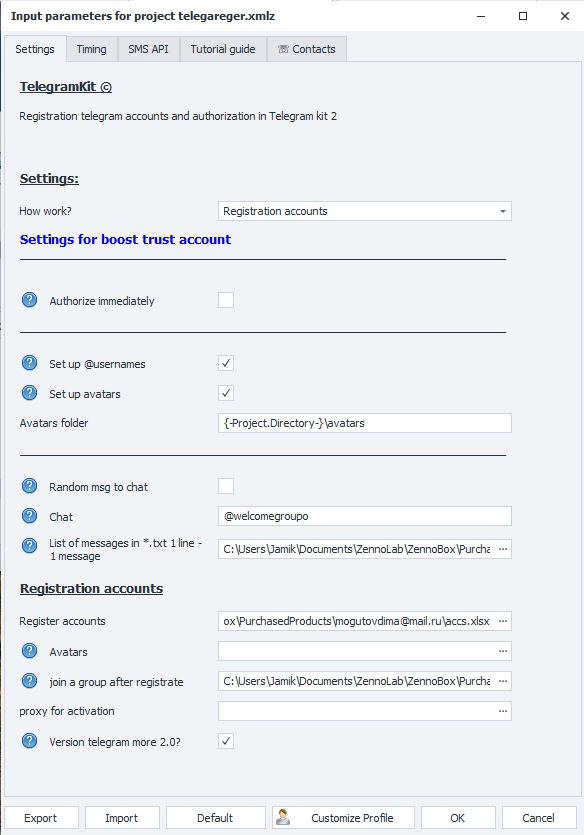 telegram kit 1 settings tutorial